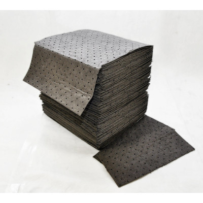 """Spilfyter® 16"""" x 18"""" Water Absorbent Pads (#DB-75) - Case of 100"""