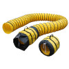 "Yellow Expandable Polyester Ducting for 16"" Xpower® X-47ATR & X-48ATR Axial Fans - 15' & 25' Lengths Available"
